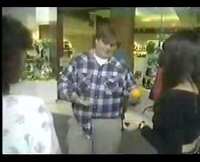 Chris Farley picks up chicks in the mall